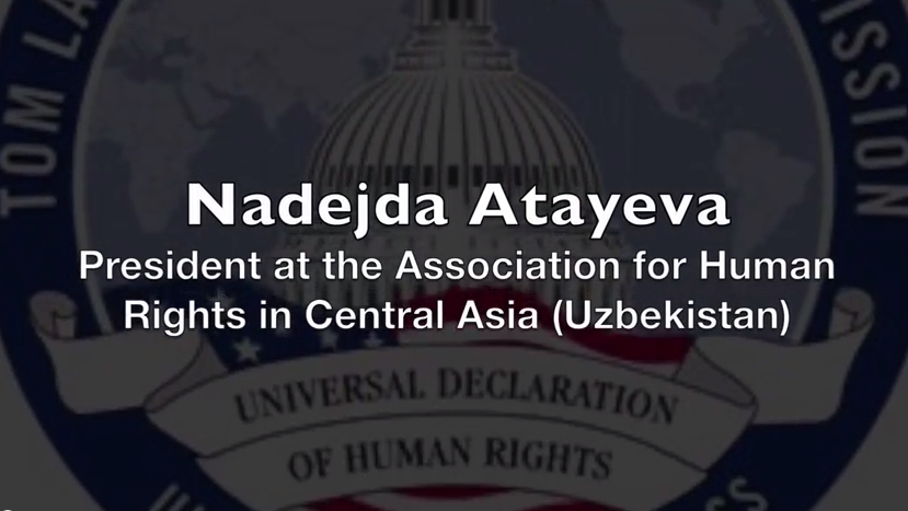 Nadejda Atayeva: Tom Lantos Hearing on World Bank Lending & Human Rights, Uzbekistan